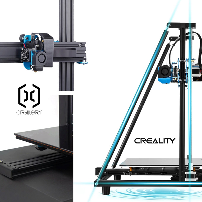 Mechanics and construction review of Artillery X1 and CR-10 V2
