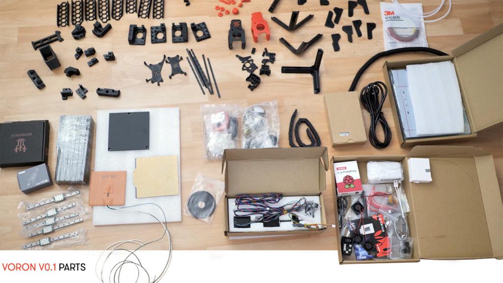 All parts for Voron0 3d printer